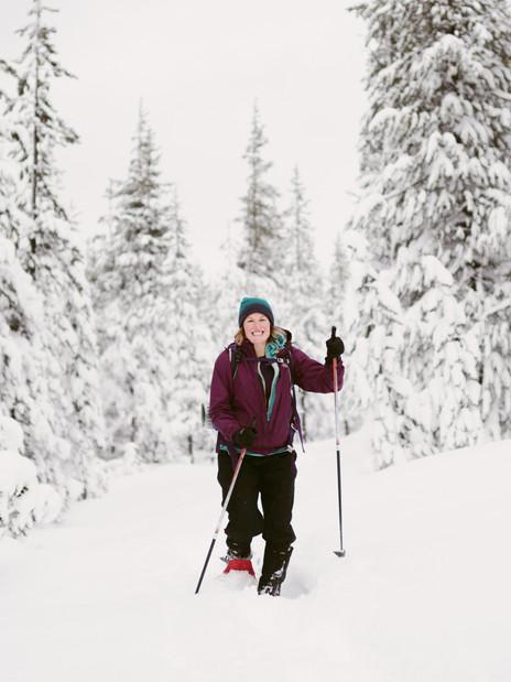 Snowshoeing Santiam Pass in Oregon