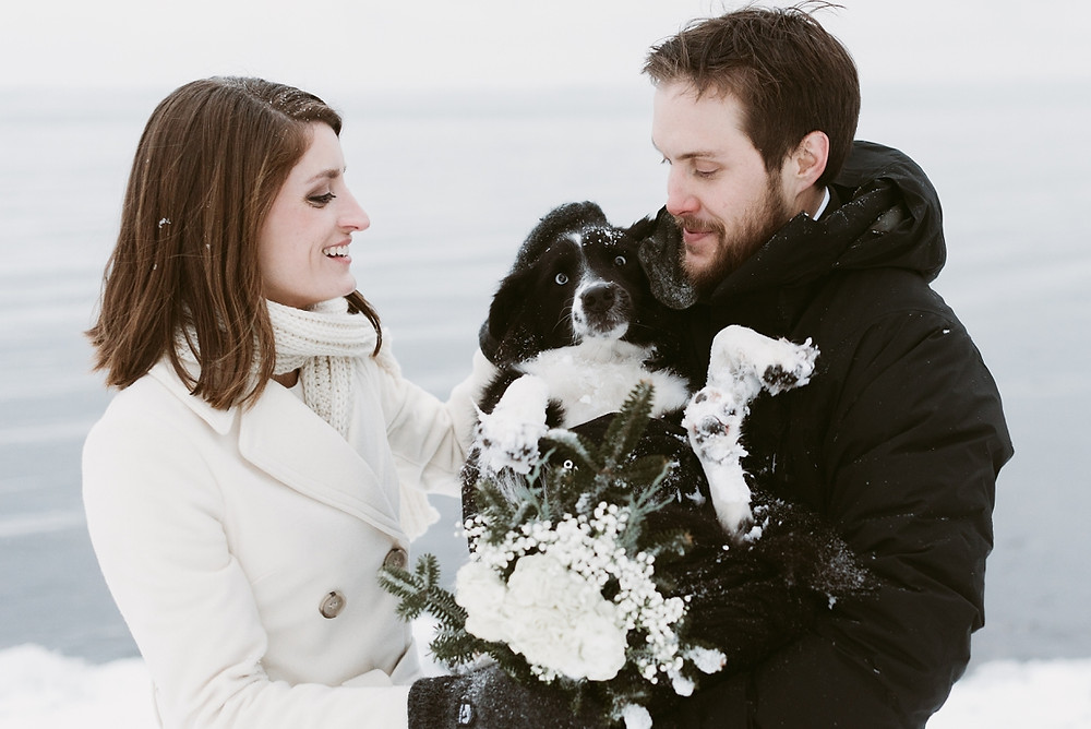 Winter Elopement at Point Au Roche, Plattsburgh by Mountainaire Gatherings