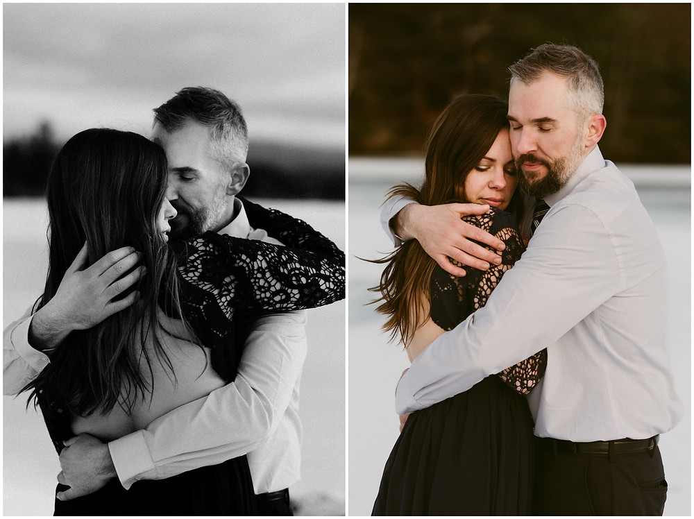 Intimate and romantic engagement photography in the Adirondacks by Mountainaire Gatherings