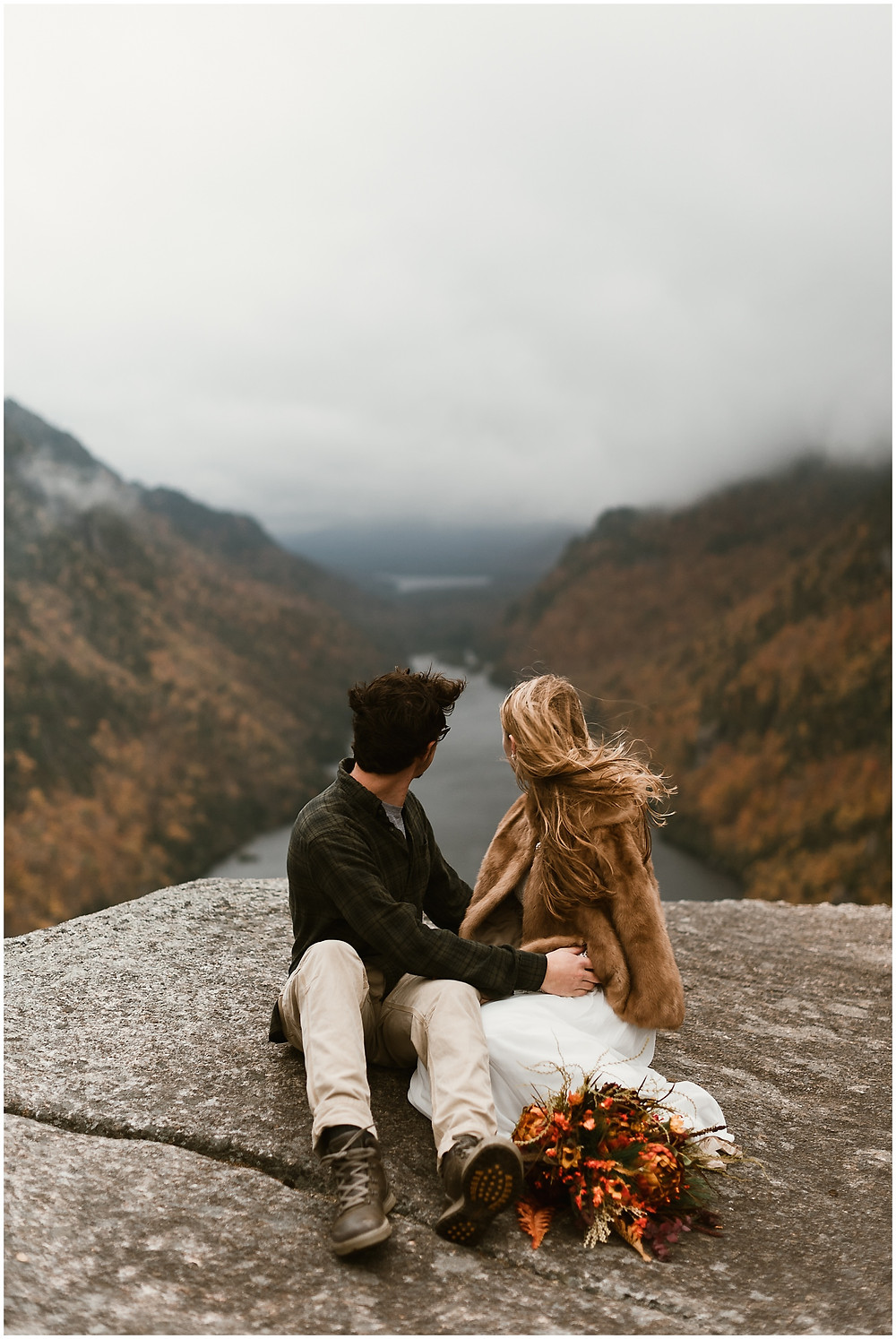 Hiking vow renewal in the Adirondacks by Mountainaire Gatherings