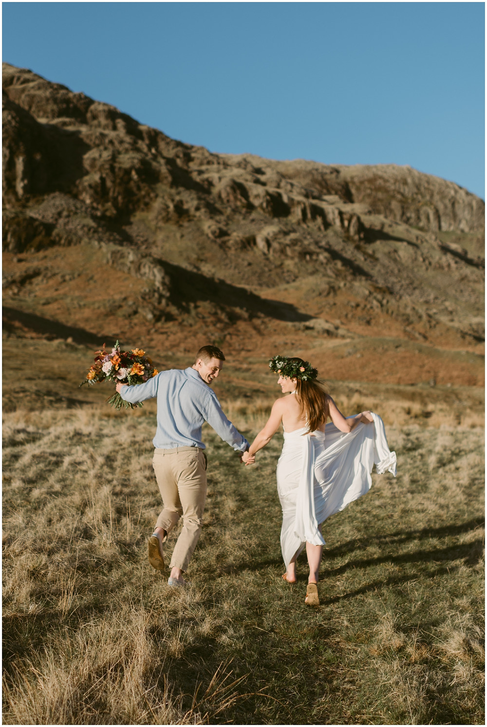 Outdoor elopement portraits in the UK