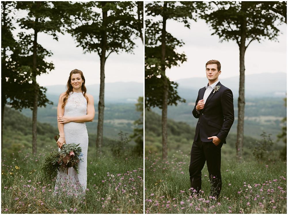 bohemian mountain wedding
