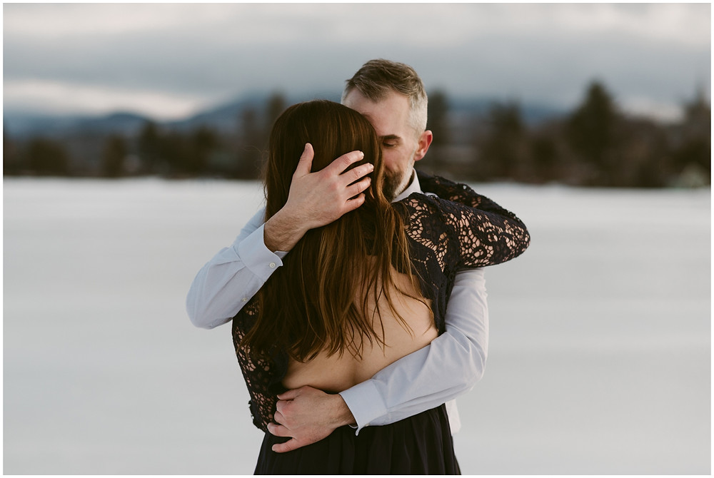 A romantic embrace in the mountains by Mountainaire Gatherings