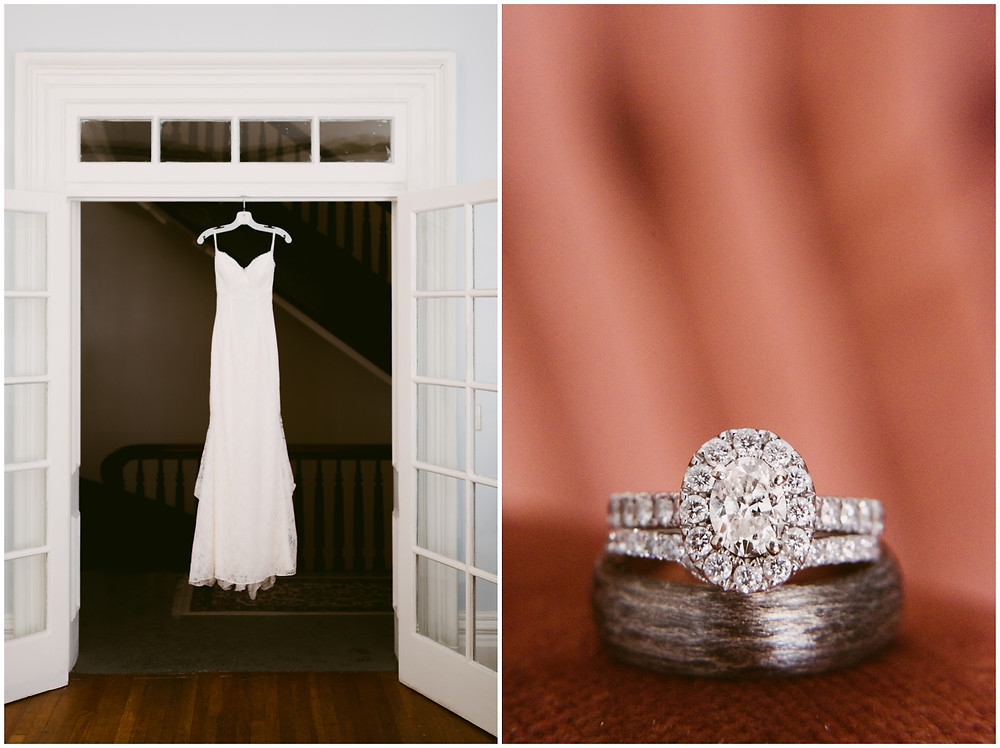 Soft, romantic bridal details at a Takk House wedding in upstate NY by Mountainaire Gatherings