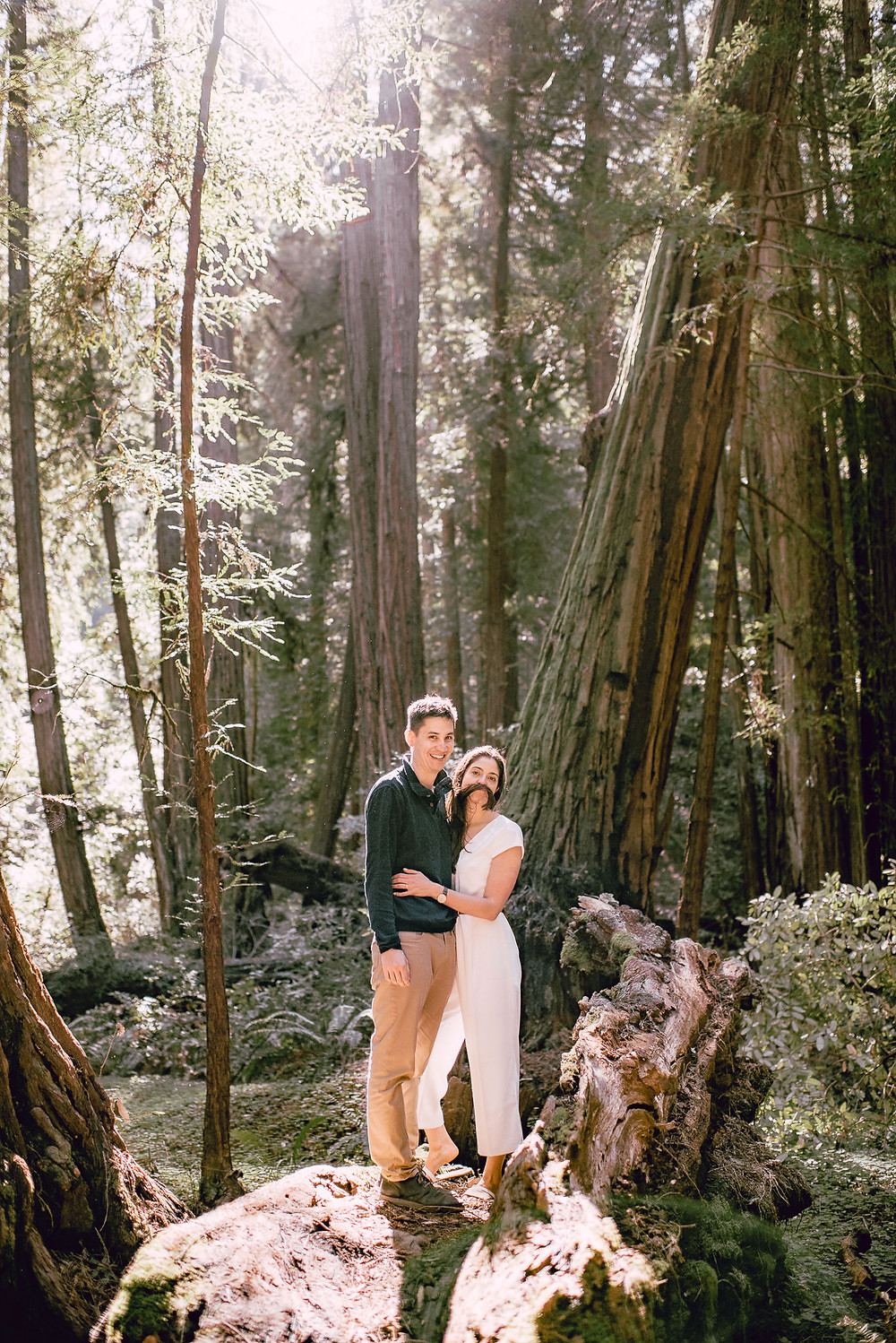 Fun Engagement Session in the Redwood Forest, California