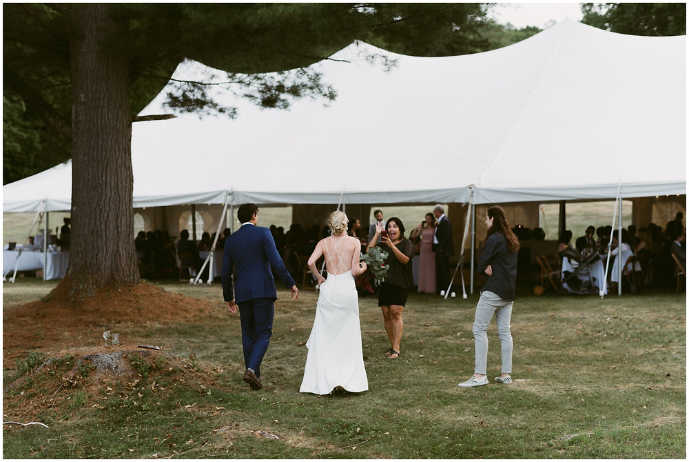 casual summer wedding in upstate New York