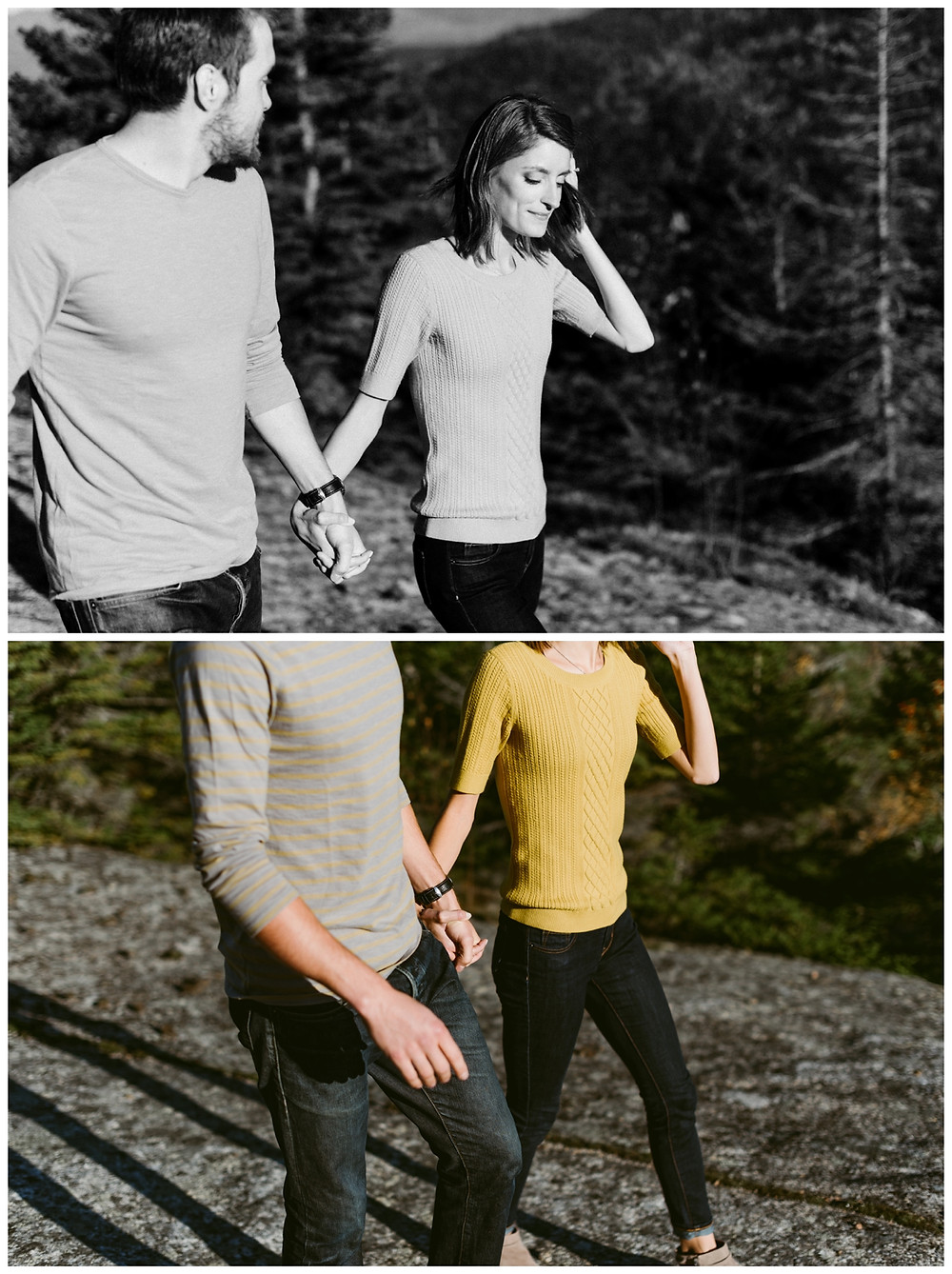 Lake Placid Autumn Engagement Session by Mountainaire Gatherings