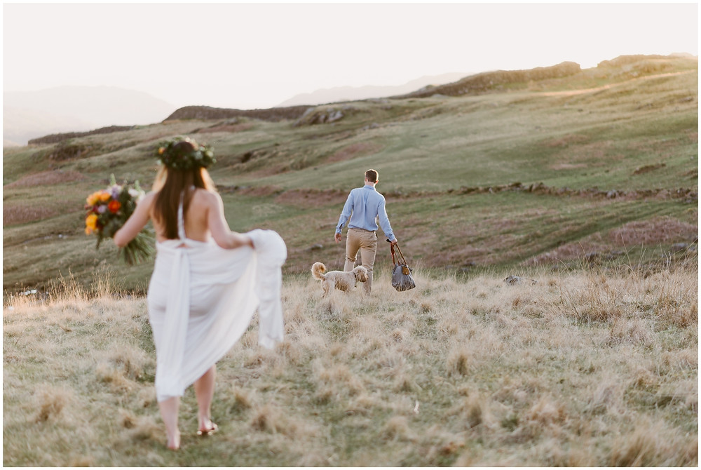 Boho elopement photographer in the United Kingdom