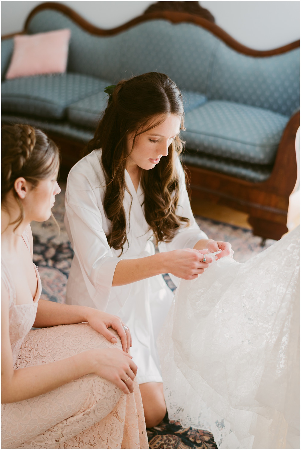 Bridal prep at the Takk House  by Mountainaire Gatherings