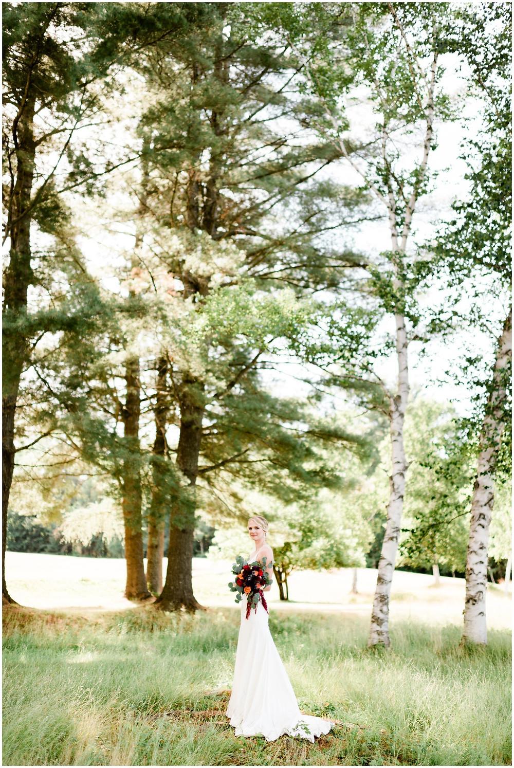 outdoor adirondack wedding