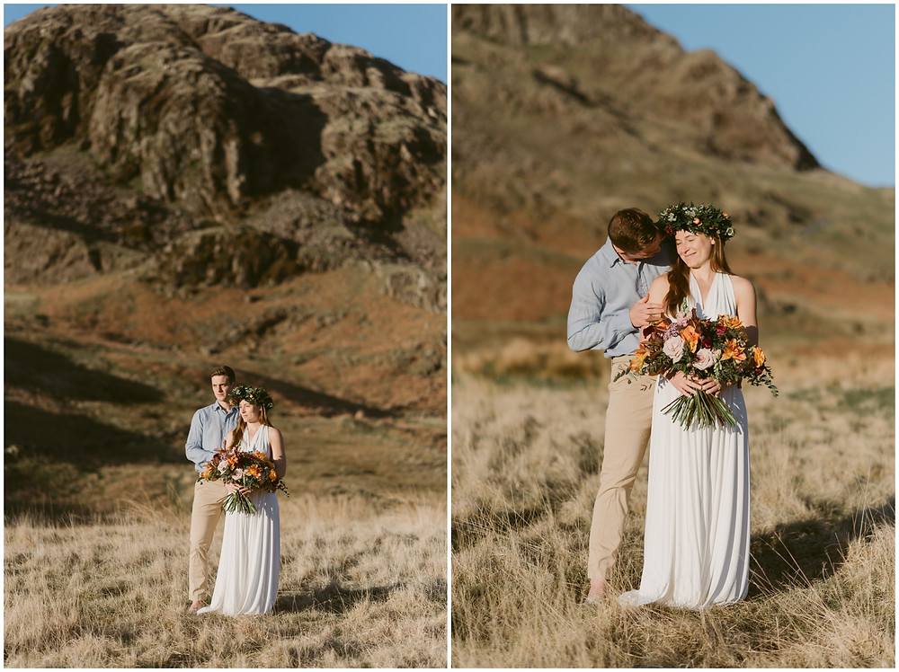 Boho adventurous elopement in the Peak District, UK