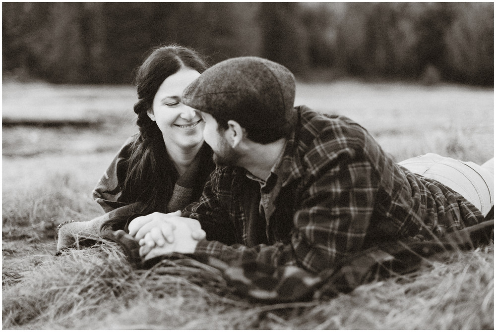 Outdoor engagement photos in the Adirondacks