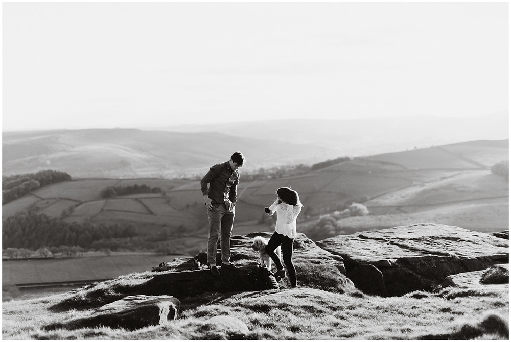 Outdoor engagement photos in the UK by Mountainaire Gatherings