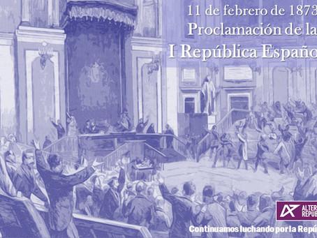 148º Aniversario de la Proclamación de la I República