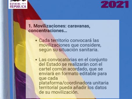 14 de abril. Acuerdos de la Comisión de Enlace del Encuentro Estatal por la República