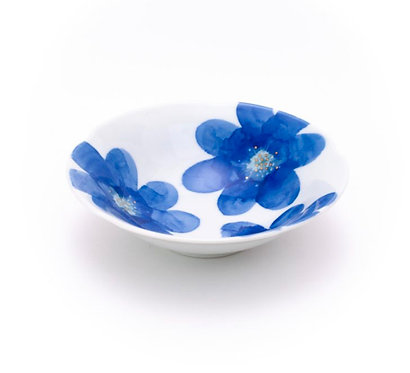 PS blue / Flower Small Bowl by Higashigama Studio, Tobe, Japan