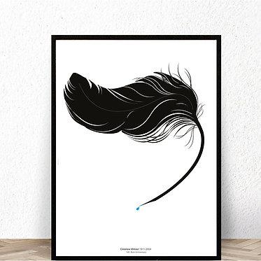 Tribute to Czeslaw Milosz by Michal Tatarkiewicz - poster 100x 70 cm