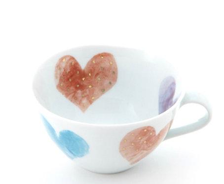 Rainbow Heart / Soup Cup by Higashigama Studio, Tobe, Japan