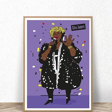 Homage to Jazz, Etta James, poster 100x70cm, 2012 by Max Skorwider