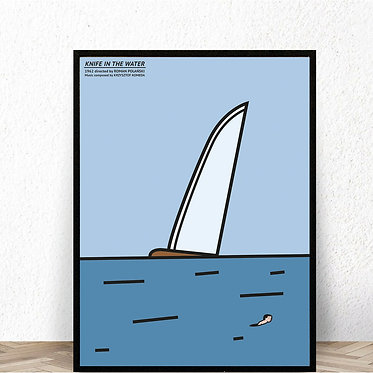 'Knife in the water' movie poster, 100x70 by Max Skorwider