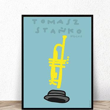 Homage to Jazz, Tomasz Stanko poster, 100x70, 2012 by Max Skorwider