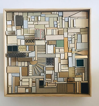 'Invisible Cities 2' Assemble on Canvas, 2019 by Studio ZIBEN, Berlin