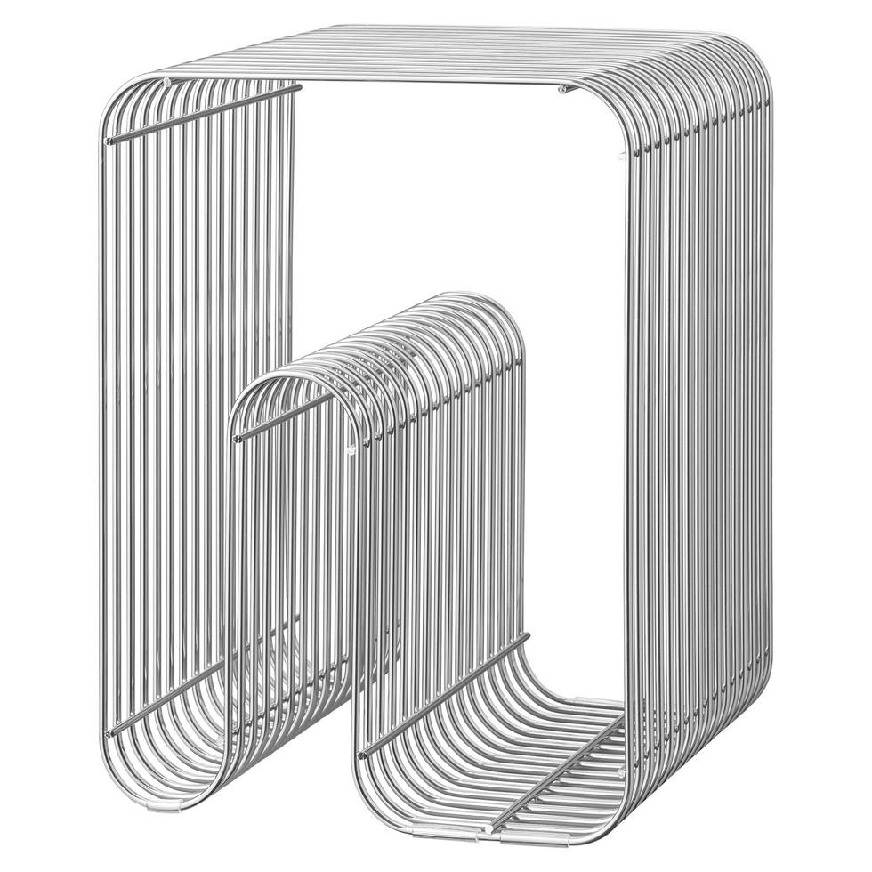 Curva Stool - Stainless Steel