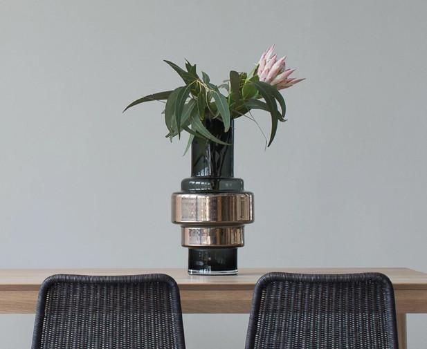 RO Mouthblown Hurricane Vase