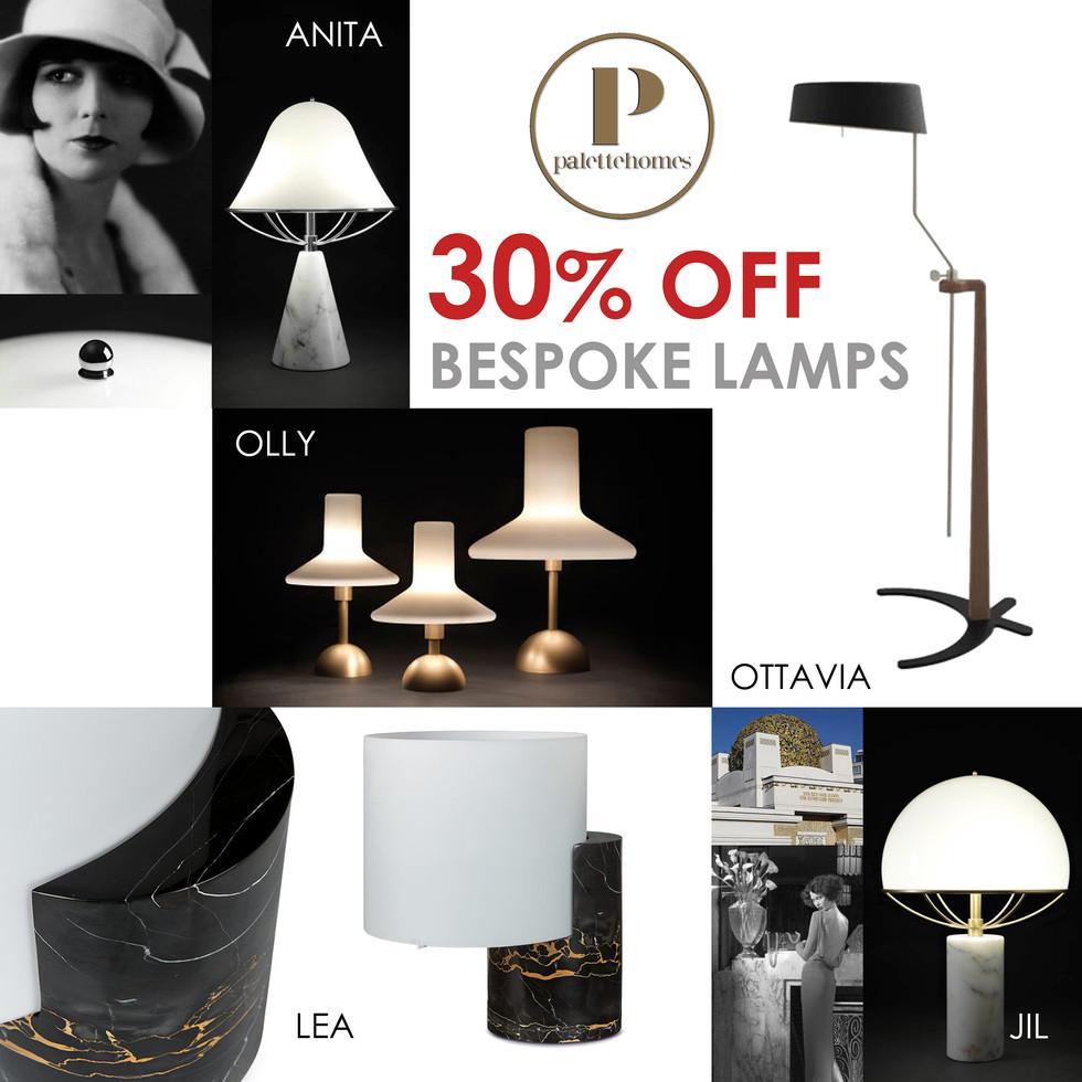 WED DEAL: 30% off Bespoke Italian Lamps