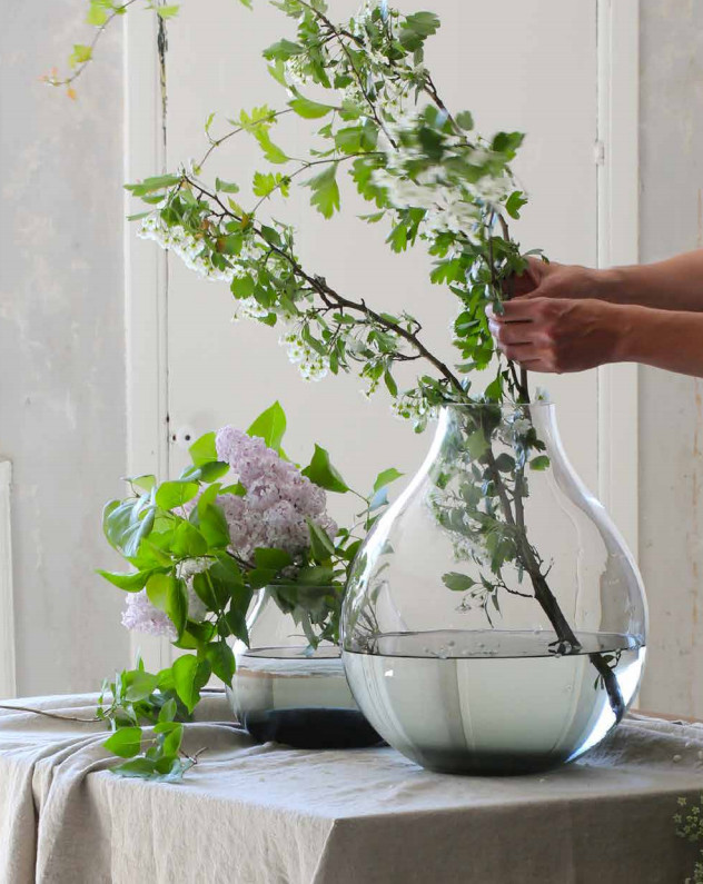 RO Mouthblown Flower Vases