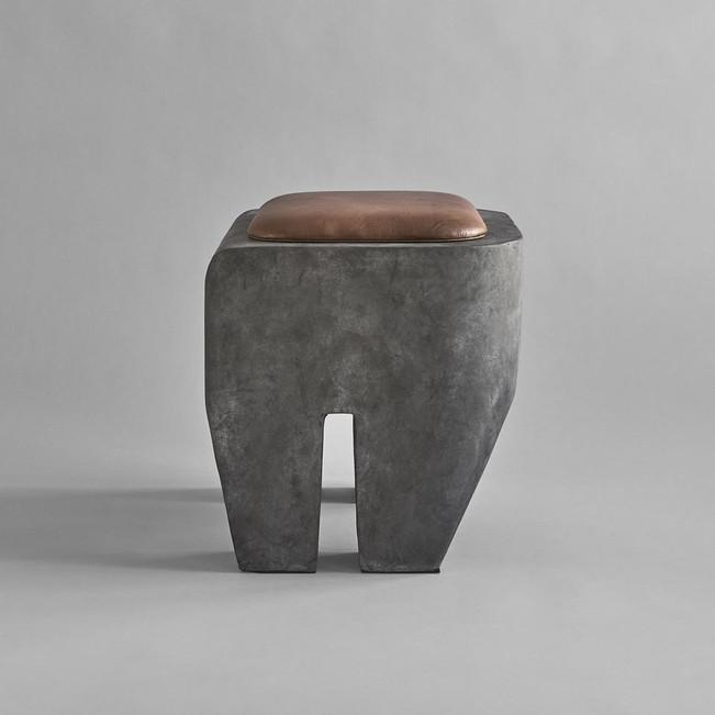 Sculpt Concrete Stool With Cushion