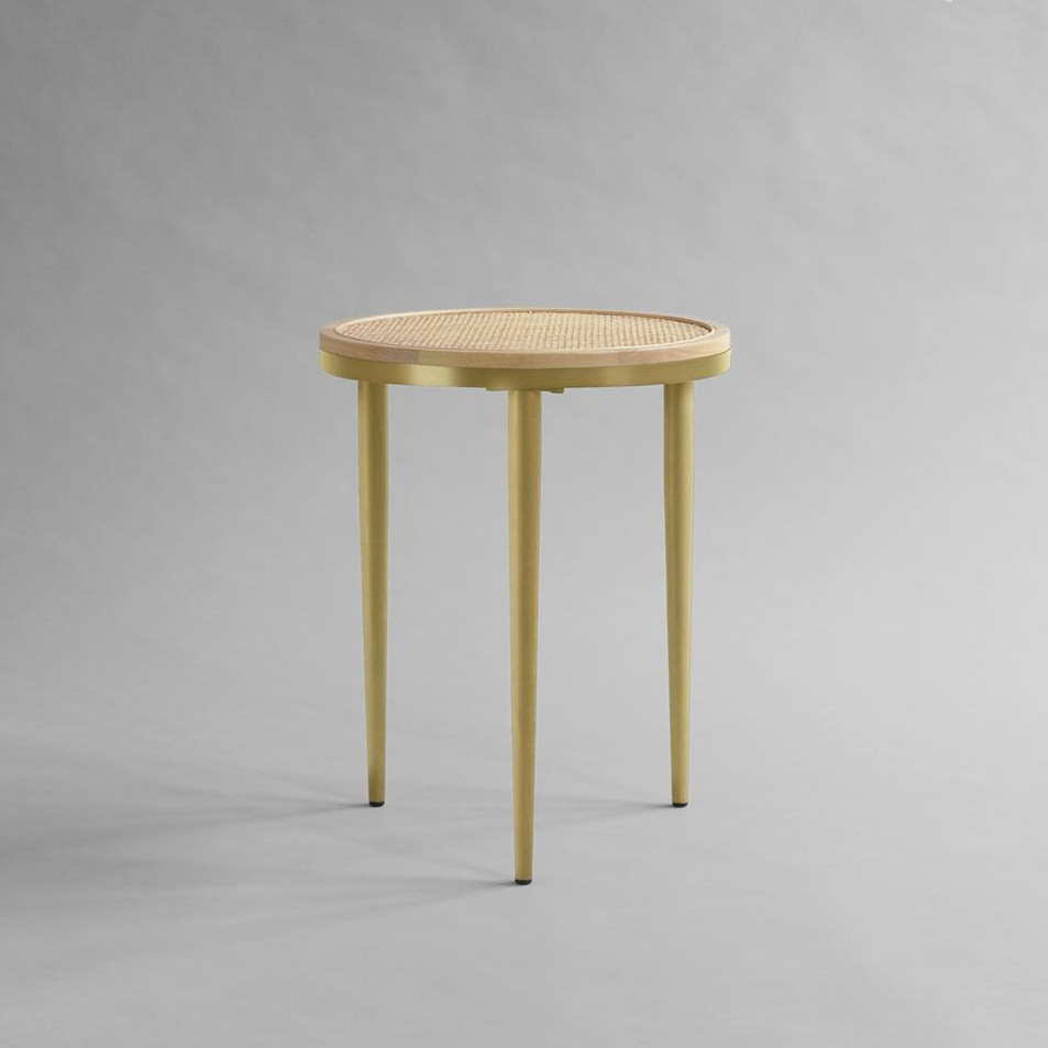 Hako Side Table - Brass