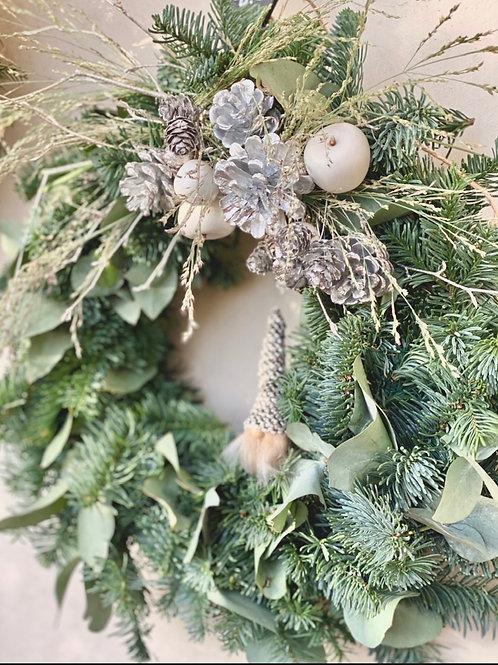Bind din egen julkrans hemma - Silvrig krans