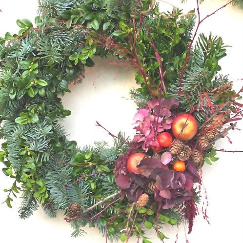 Bind din egen julkrans hemma - Naturlig krans