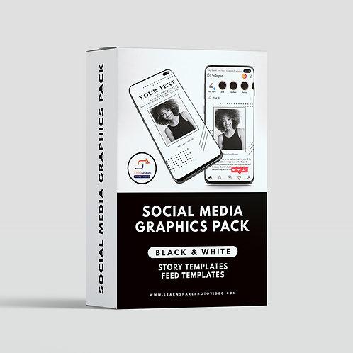 LPSV Social Media Graphics Pack (Black and White)
