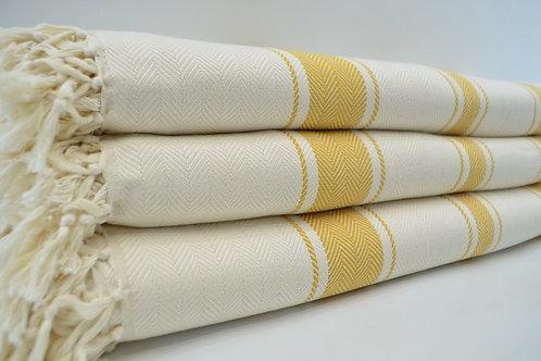 Pure Bamboo Turkish Herringbone Throw Blanket