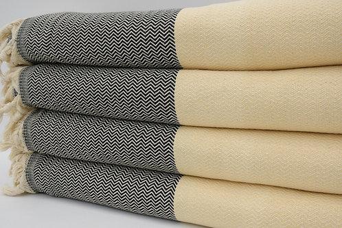 Pure Cotton Turkish Yellow Throw Blanket