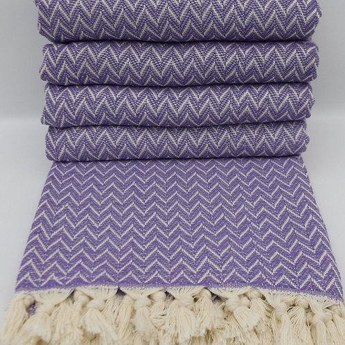 Pure Cotton Purple Turkish Throw King Blanket