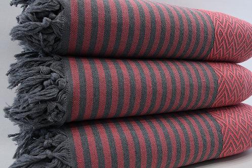 Pure Cotton Green Turkish Throw Aztec King Blanket