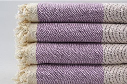 Pure Cotton Turkish Purple Bedspread, Beach Blanket, Throws