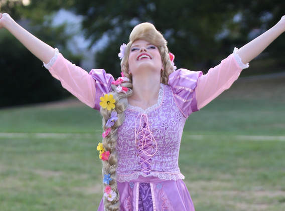 Rapunzel Tangled Character Princess Performer Party DC, Maryland, Virginia Nova Party Princess DMV Enchanted Empowerment