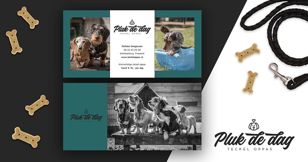 Flyers voor hondenoppas Pluk de Dag uit Echtenerbrug