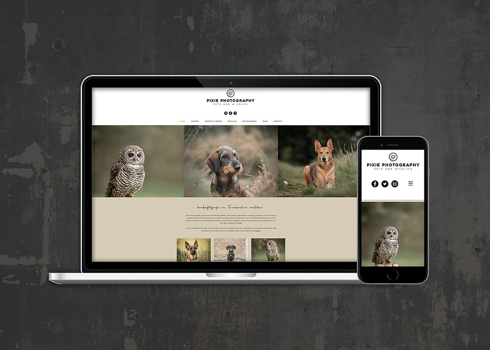 De nieuwe website van Pixie Photography