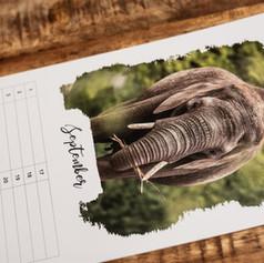 Verjaardagskalender met foto's van wilde dieren