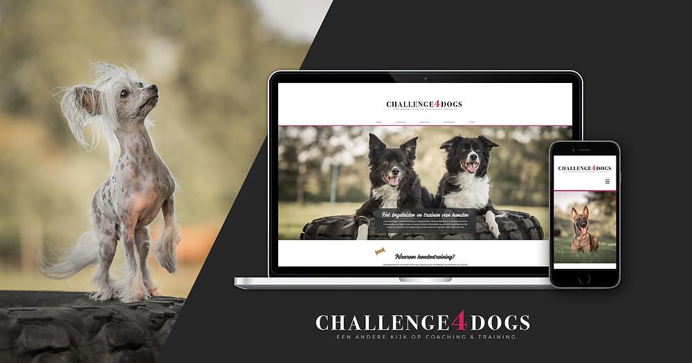 De nieuwe website van hondenschool Challenge4Dogs