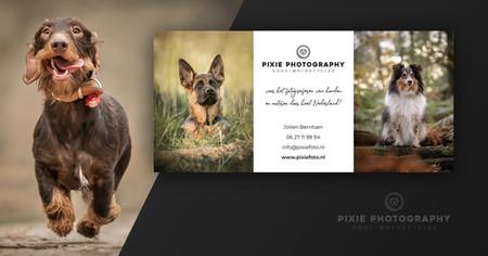 Pixie Photography flyer ontwerp
