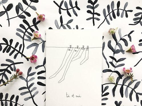 Carte 'Toi et moi' - Papillonnage