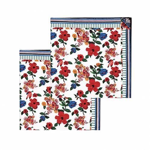 Lot de 2 serviettes de table hibiscus Le Petit Lucas Du Tertre