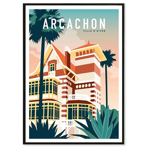 Affiche Arcachon, Ville d'Hiver - Les Affichistes