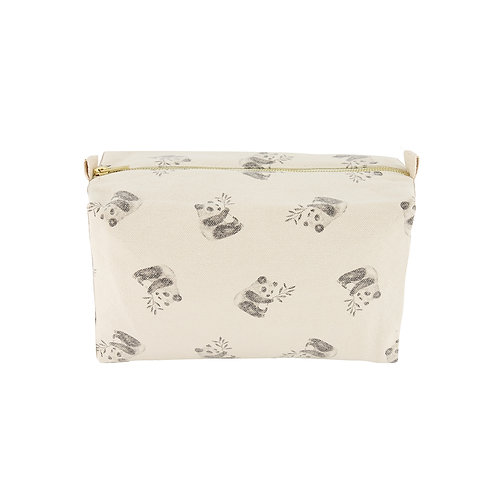 Trousse de toilette Rose in April panda naturel